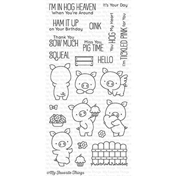 Happymade - My Favorite Things clear stamp set - Hog Heaven (BB-35)
